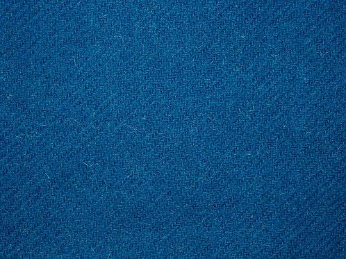 "Original Harris Tweed Meterware ""Scottish Sea"" sattes blau"