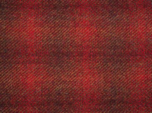 """Original Harris Tweed Meterware """"Rost Red""""warm rot/grün"""