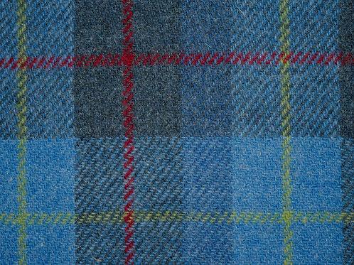 """Original Harris Tweed Meterware """"Firth"""" blau/rot/gelb kariert"""