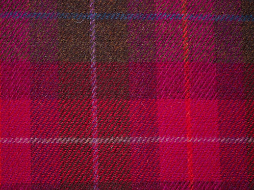 "Original Harris Tweed Meterware ""Pink Patchwork"" warme pinktöne kariert"