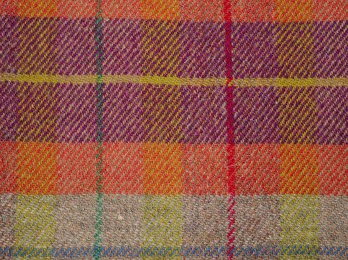"""Original Harris Tweed Meterware """"70`s Stripe"""" orange/violett/.. kariert"""
