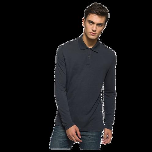 Canopy - Merino Piquet Langarm Herren Polo Shirt