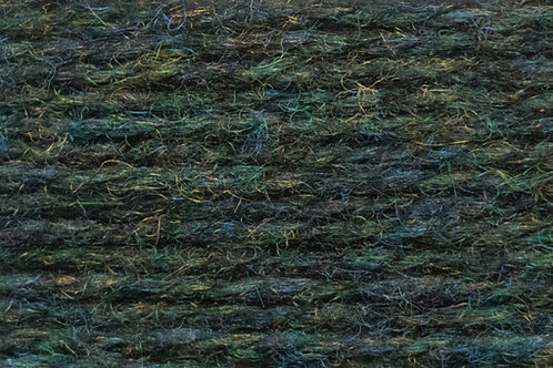 Irische Strickwolle Irish Pagan Wolle Grün Anthrazit