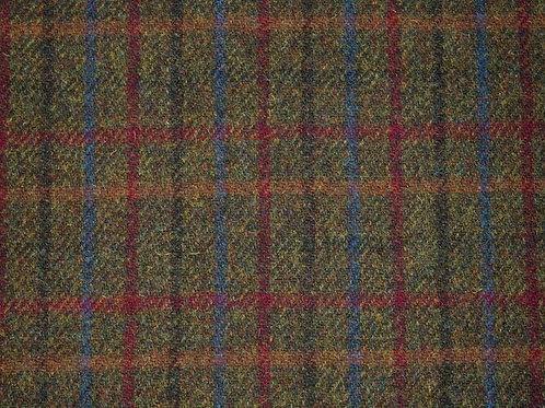 """Original Harris Tweed Meterware """"York"""" grün/rot/blau karier"""