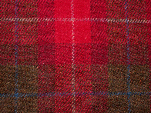 "Original Harris Tweed Meterware ""Rose Highland"" warm rot/grün kariert"