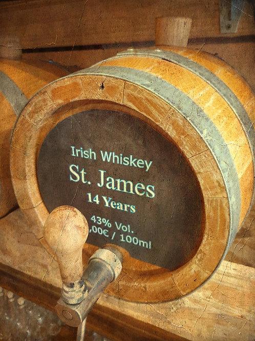 "Irish Whiskey Original ""St.James""  Stout Cask Finish 14 Jahre 43% vom Fass"