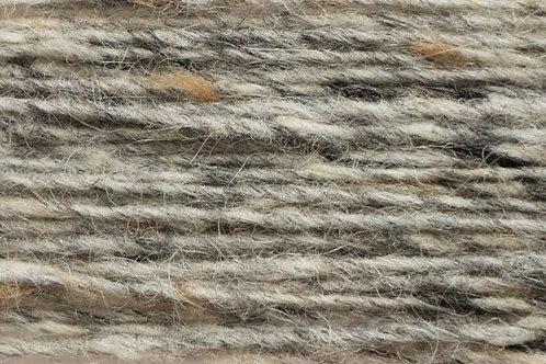 Merino und Baby-Mohair Irische Strickwolle Wollgarn Grau/Beige