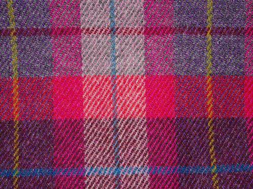 """Original Harris Tweed Meterware """"Pale Mix"""" Pink/Violet/Blau  ka"""