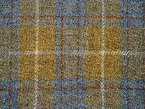"""Original Harris Tweed Meterware """"Shetland"""" Senf/Blau kariert"""