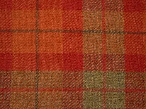 "Original Harris Tweed Meterware ""Soft Shire"" orange/grün kariert"