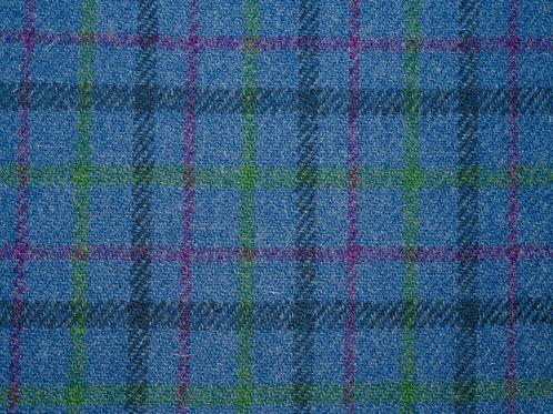 """Original Harris Tweed Meterware """"Rodels View"""" blau/grün kariert"""