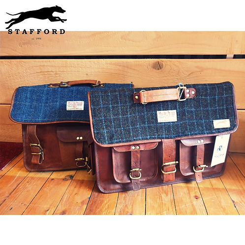 "Stafford Leder- & Harris Tweed Schultasche / Aktentasche Old School ""Lexington"""