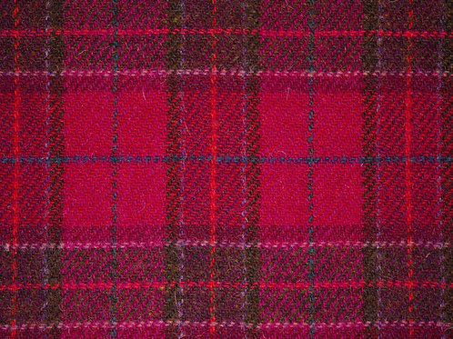 "Original Harris Tweed Meterware ""Missy Rose"" pink/rot kariert"