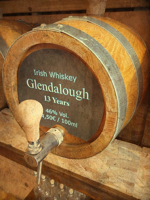 "Irish Whiskey Original ""Glendalough"" Sherry Cask 13 Jahre 46% vom Fass"