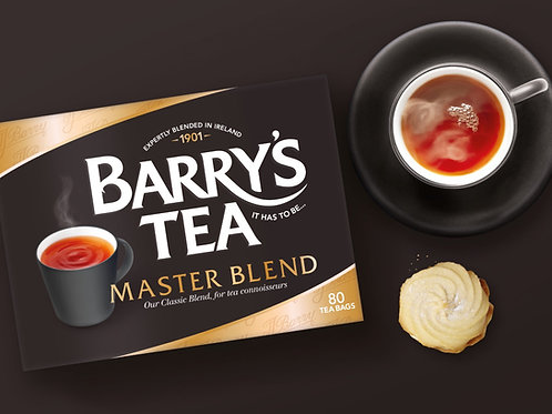 Barry`s Tea Master Blend Schwarzer Tee (80 Beutel)