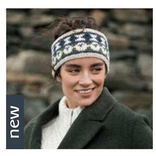 """Damen Winter Kopfband  Merino """"Elaine"""" Handmade"""