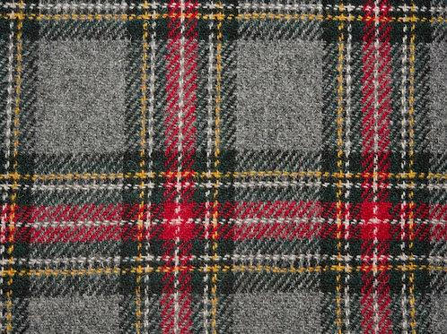 """Original Harris Tweed Meterware """"Vintage"""" grau/rot/grün kariert"""