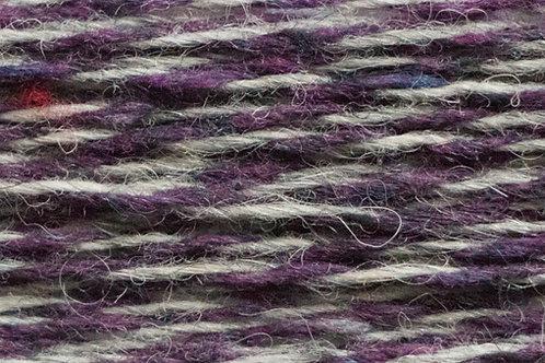 Alpaka Soft Donegal Tweed Strickwolle Violet (Violet/Grau)