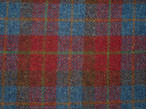 "Original Harris Tweed Meterware ""Old School"" rot/blau kariert"