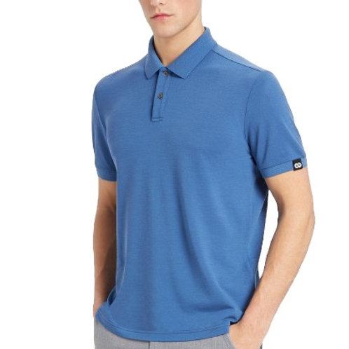 Oro - Merino Piquet Herren Polo Shirt Ocean