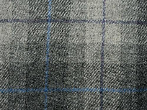 """Original Harris Tweed Meterware """"Earl Check"""" grau/blau kariert"""