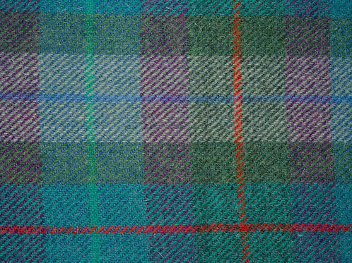 "Original Harris Tweed Meterware ""Tiree"" türkis/violett/grün kariert"