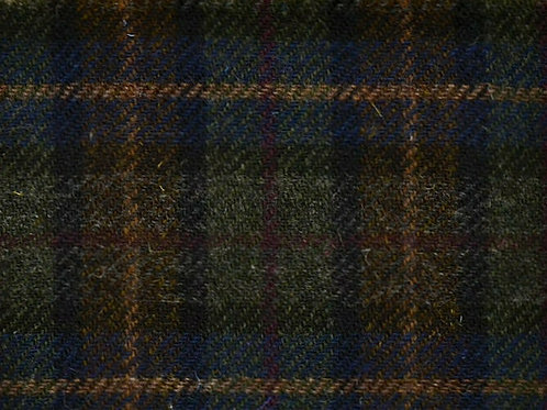 "Original Harris Tweed Meterware ""Dark Brody"" warme Braun/Grün-Töne kariert"