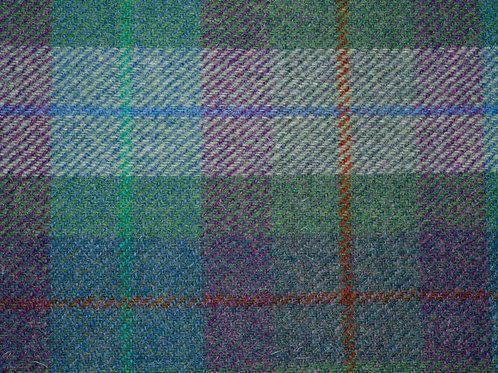 "Original Harris Tweed Meterware ""Soft Uist"" Blau/Grün/Violet kariert"