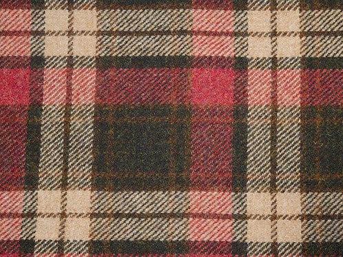 "Original Harris Tweed Meterware ""West Highlands"" beige/rot/grün kariert"