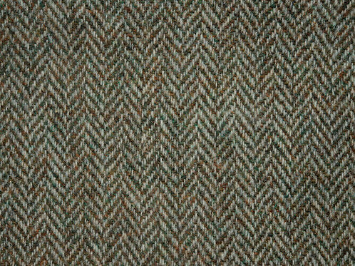 "Original Harris Tweed Meterware ""Classic"" braun/grün Herringbone"