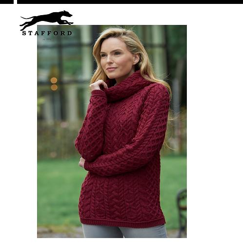 """Stafford Damen Wollpullover oversized Kragen """"Cera"""" 100% weiche Merinowolle"""