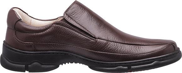 0124 - Sapato Medical Line Elástico Conforto Gel Couro