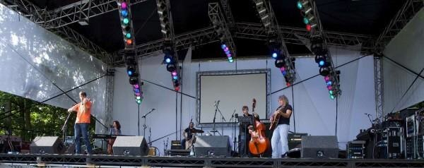 Pig Earth, gig in the park Norfolk.