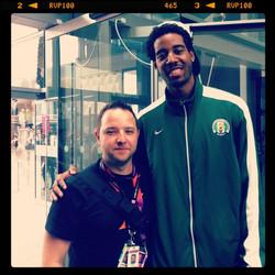 NBA basketball star Al -Farouq Aminu