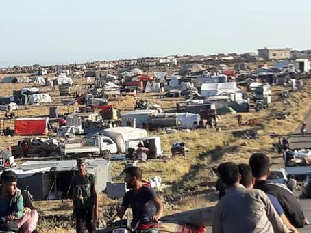 Hunderttausende Menschen aus Daraa auf der Flucht