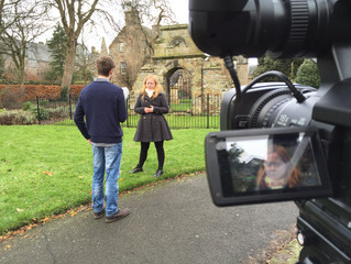 Filming in St Andrews