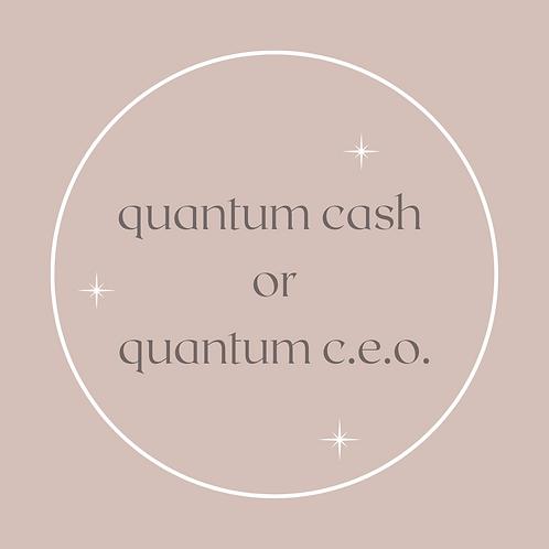 Quantum Cash or Quantum C.E.O.
