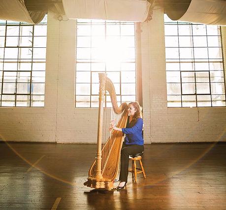 Harpist Carolyn Munford Augusta Georgia