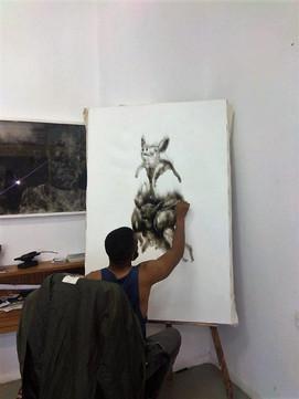Emerging artist Azael Langa