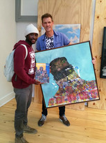 Buhle and Maik at the show opening