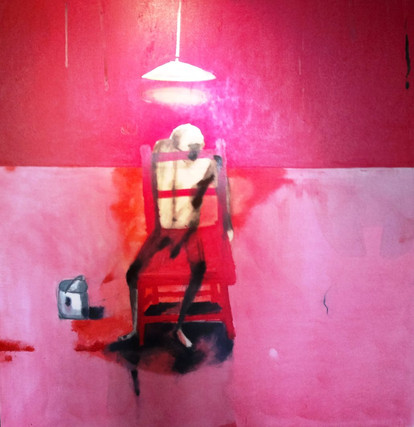 A Seated Figure, Red Room
