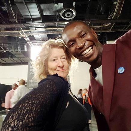 Diane Victor and Bambo Sibiya