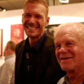 Jan Neethling visited the Red Room booth at the Cape Town Art Fair 2014 and signed his new book for me
