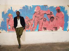 Bambo Sibiya in his studio