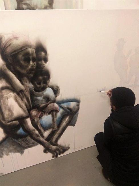 Azael in his studio