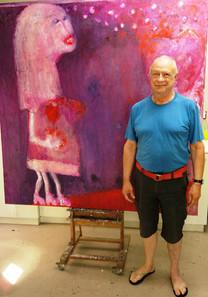 Hannes van Zyl in his studio