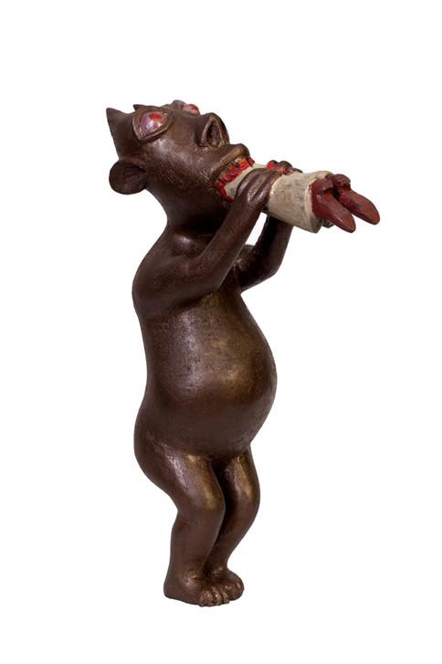 Devil eating a sinner