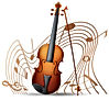 vector-violin-with-music-notes-in-backgr