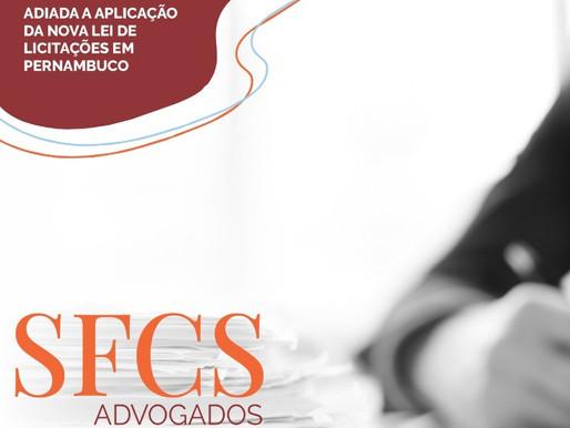 Adiada a aplicação da nova lei de licitações em Pernambuco