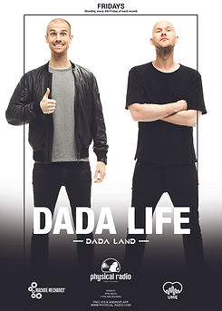Dada Life Dada Land on Physical Radio, r